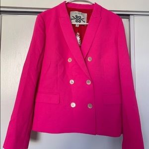 Double-breasted pink blazer, new with tags